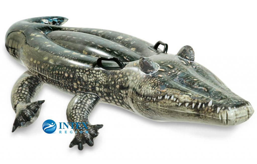 """Надувная игрушка-наездник """"Настоящий аллигатор"""" Intex арт.57551"""