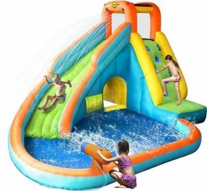 """Детский надувной водный батут с горкой """"Водопад"""" HAPPY HOP 9117N"""