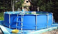 Сборный бассейн на даче