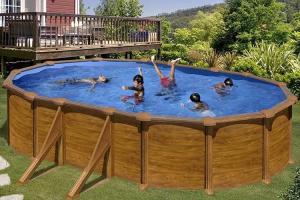 Каркасный бассейн GRE KITPR618WOMAG овальный 610x375x132 см