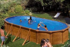 Каркасный бассейн GRE PROV918WO овальный 915x470x132 см