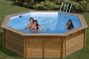 Круглый деревянный бассейн 511x124 см VIOLET GRE 790085